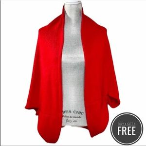Red Cardigan/ Shrug/ Wrap One Size Fits All